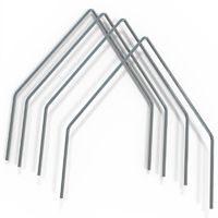 4 металлических нержавеющих дуги